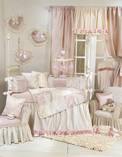 Glenna Jean Crib Bedding VICTORIA PILLOW - DAMASK WITH CORD New York New Jersey Staten Island