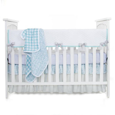 Glenna Jean Crib Bedding WILLOW 3PC SET (INCLUDES QUILT, GREY MICRO DOT SHEET, CRIB SKIRT) New York New Jersey Staten Island