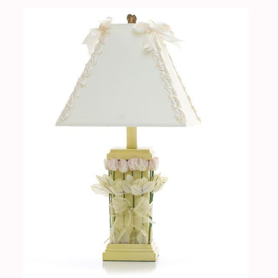 Glenna Jean Crib Bedding YELLOW LAMP WITH ROSES & RIBBON SHADE New York New Jersey Staten Island