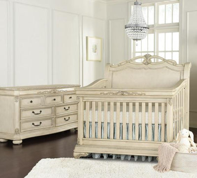 Kingsley Wessex 2 Piece Nursery Set Crib and Double Dresser