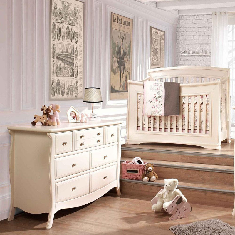 Natart Bella 2 Piece Nursery Set-Crib and 5 Drawer Dresser - Posh Baby & Teen