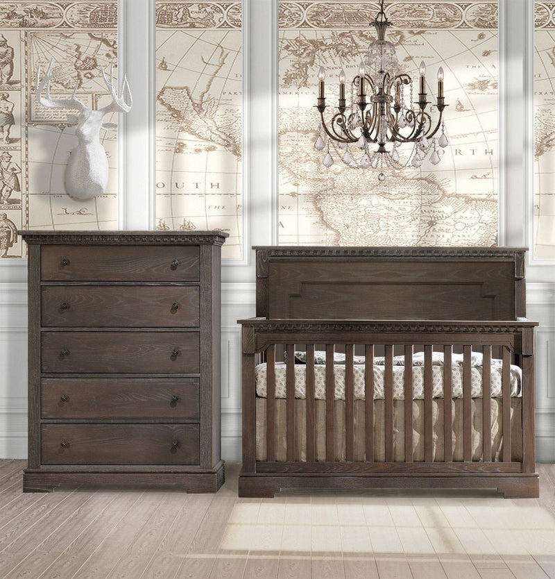Natart Ithaca 2 Piece Nursery Set-Crib and 5 Drawer Dresser - Posh Baby & Teen