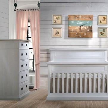 Natart Cortina 2 Piece Nursery Set Crib and 5 Drawer Dresser - Posh Baby & Teen