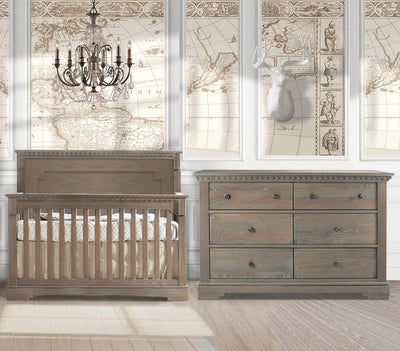Natart Ithaca 2 Piece Nursery Set-Crib and Double Dresser - Posh Baby & Teen