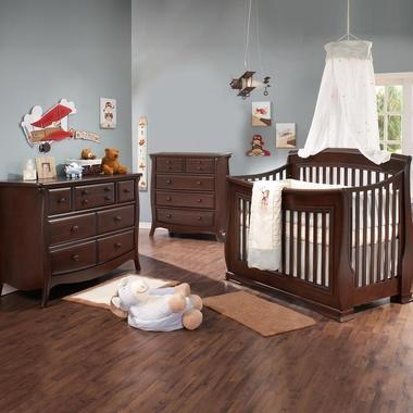 Natart 3 Piece Nursery Set Walnut Natart Bella 3 Piece Nursery Set New York New Jersey Staten Island