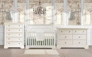 Natart 3 Piece Nursery Set White Natart Ithaca 3 Piece Nursery Set Crib, Double Dresser, and 5 Drawer Dresser New York New Jersey Staten Island