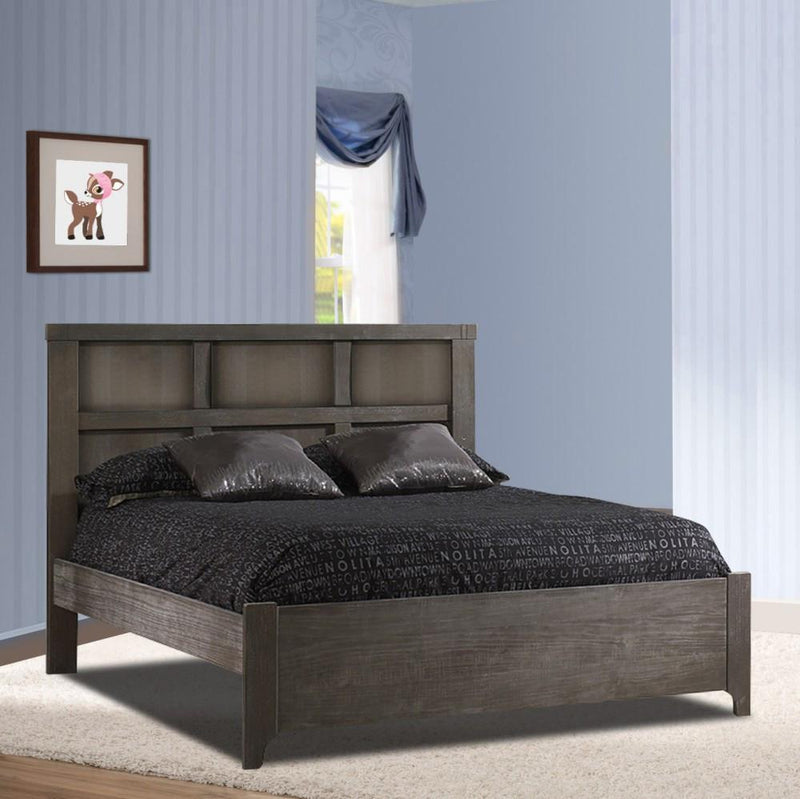 "Natart Rustico Collection Double Bed 54"" with Low profile footboard & rails - Posh Baby & Teen"