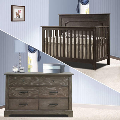 Nest 2 Piece Nursery Set Mink Nest Emerson Collection 2 Piece Nursery Set Crib and Double Dresser New York New Jersey Staten Island