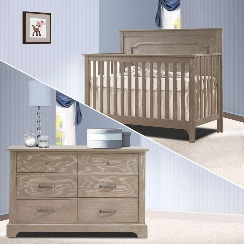 Nest 2 Piece Nursery Set Sugarcane Nest Emerson Collection 2 Piece Nursery Set Crib and Double Dresser New York New Jersey Staten Island
