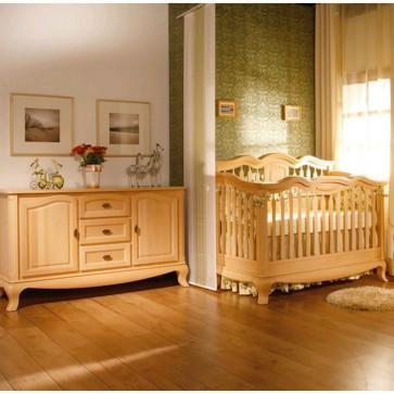 2 Piece Nursery Crib & Baby Station Set