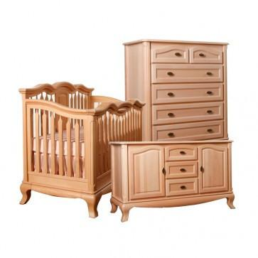 Romina Cleopatra 3 Piece Nursery Set - Crib, Baby Station 2020