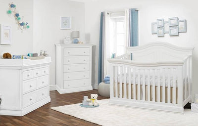 Posh Baby and Teen 2 Piece Nursery Set Sorelle Providence Collection Pure White New York New Jersey Staten Island