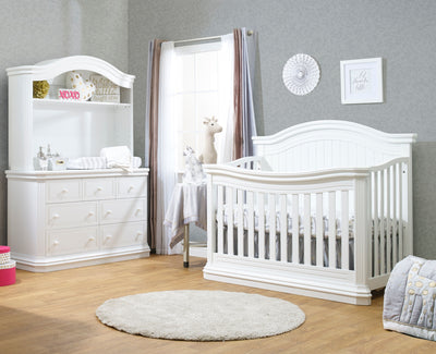Avanti Collection White 2 Piece Set - Crib and Double Dresser