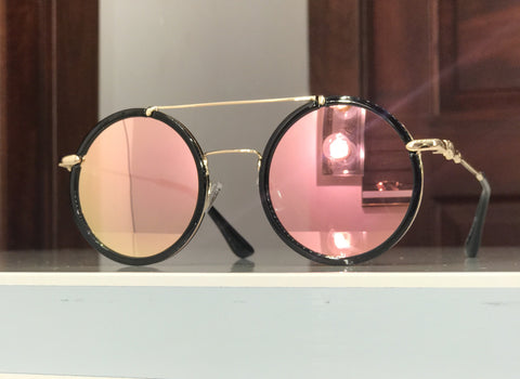 Pink fashion glasses