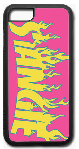 Pink Flame Phone Case.