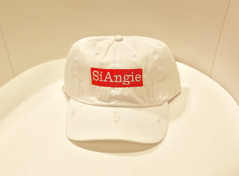 White SiAngie Dad Hat