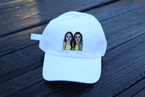 SiAngie Twins dad hat. (White)