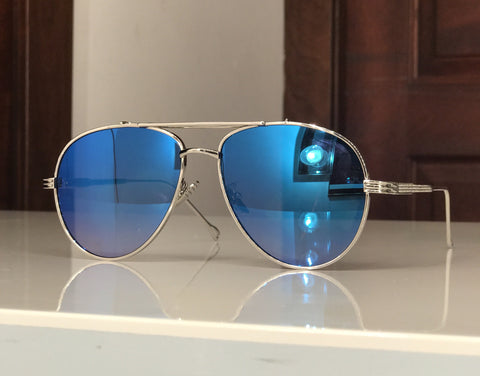 Blue shine glasses