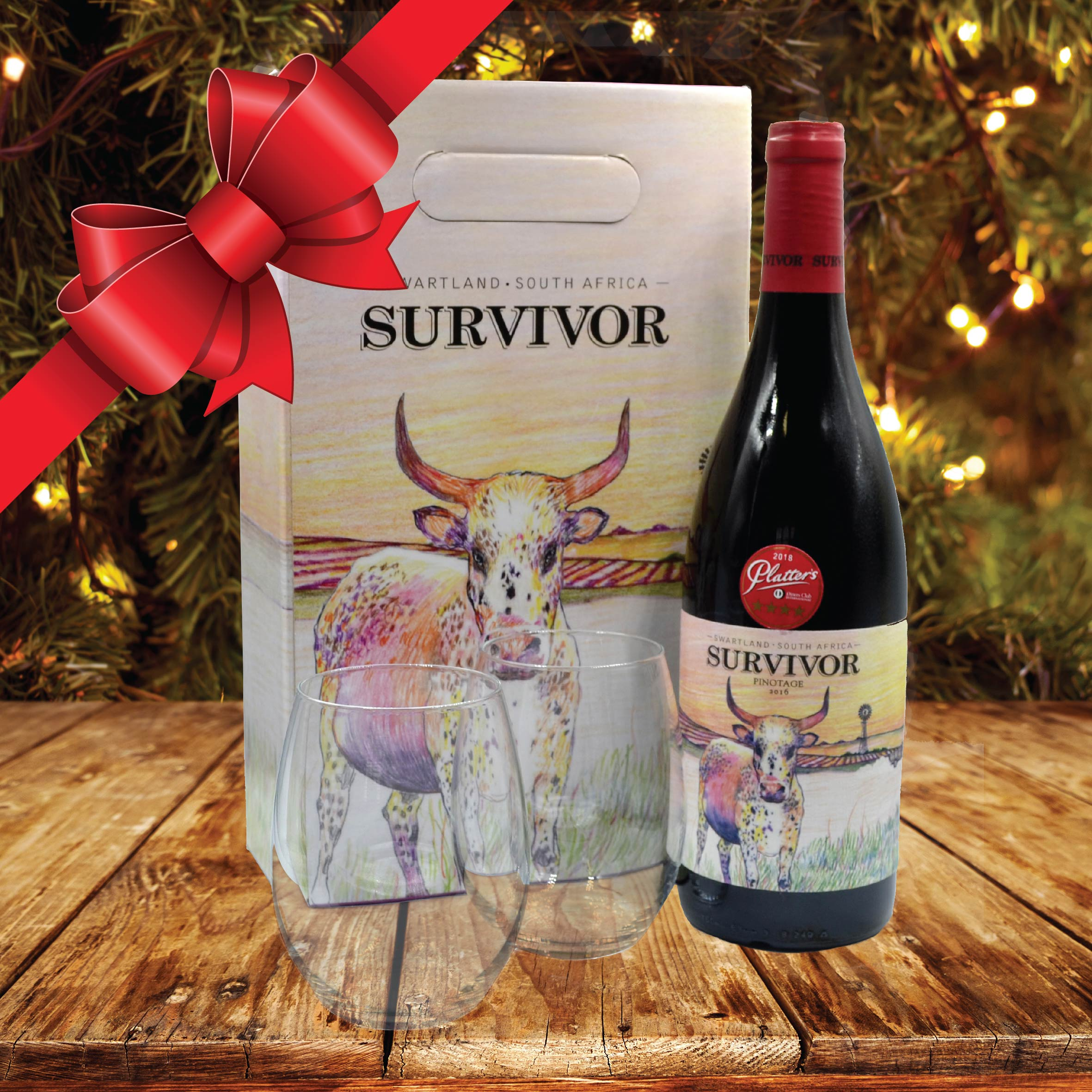 Survivor Pinotage gift pack comes to the rescue at Makro