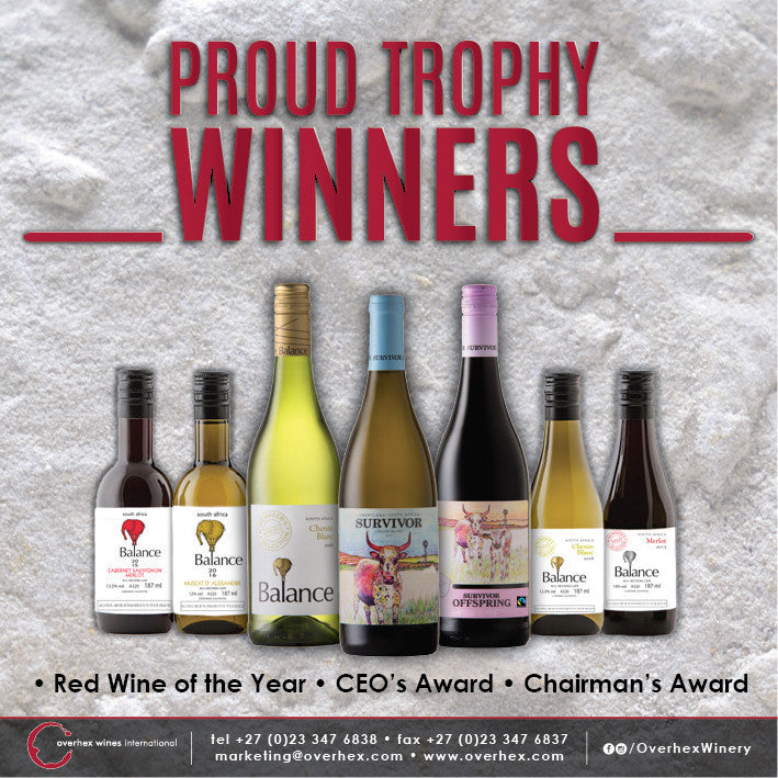 Overhex Red Wins SAA Wine of the Year