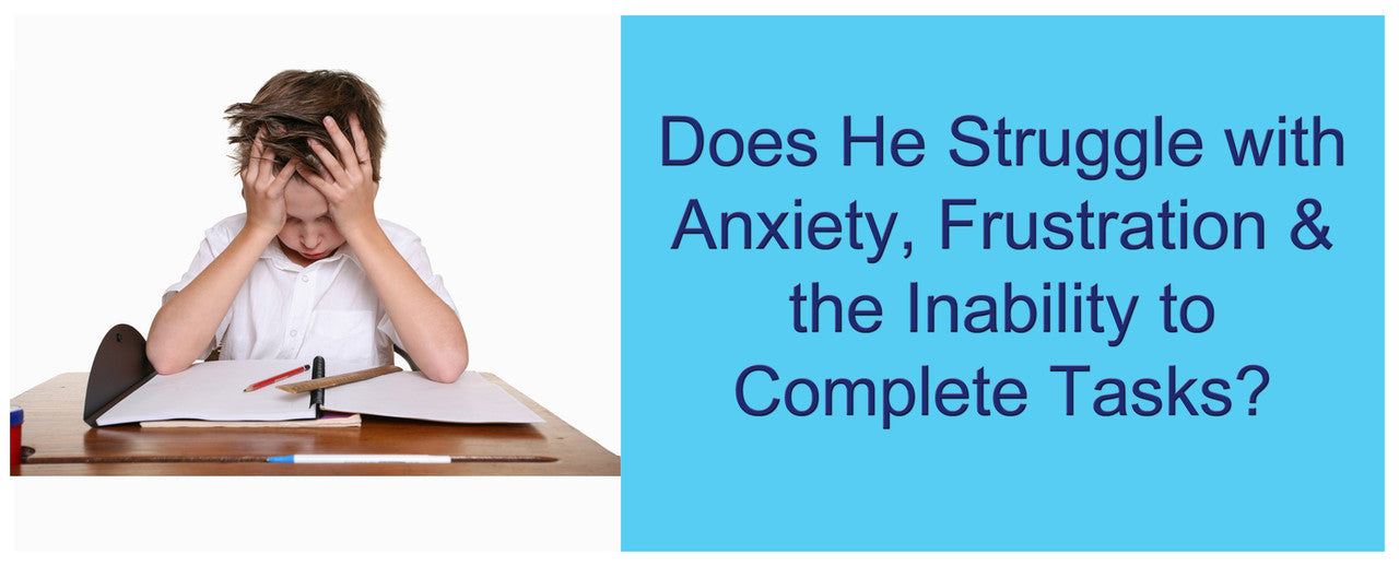 Does He Struggle With Anxiety, Frustration or the Inability to Completes?