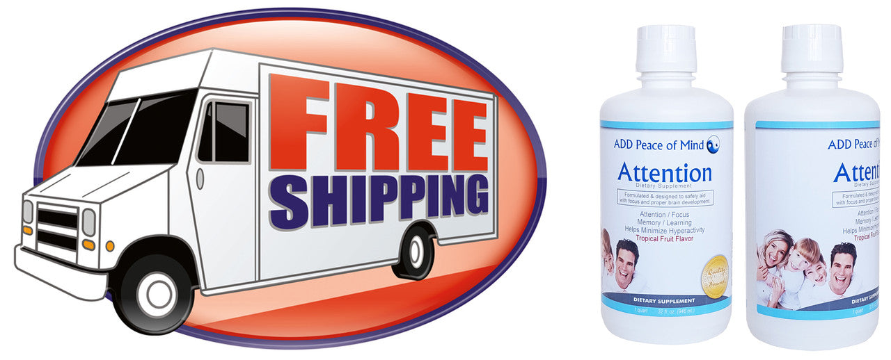 ADD Peace of Mind provides you with FREE Shipping! Order Today!