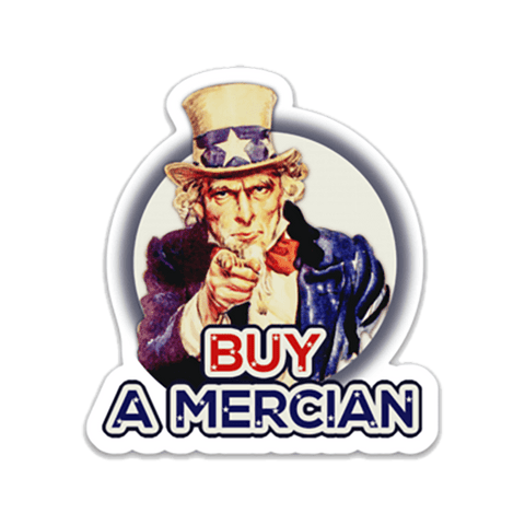 Buy a Mercian Sticker die cut roll label