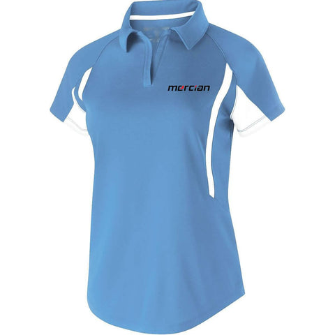 Mercian Field Hockey Ladies Polo Shirt Blue