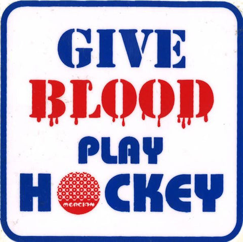 Give Blood Play Hockey Decal