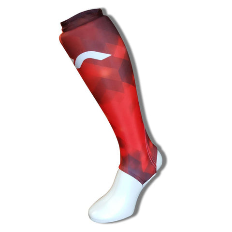 Mercian field hockey shinliners Red
