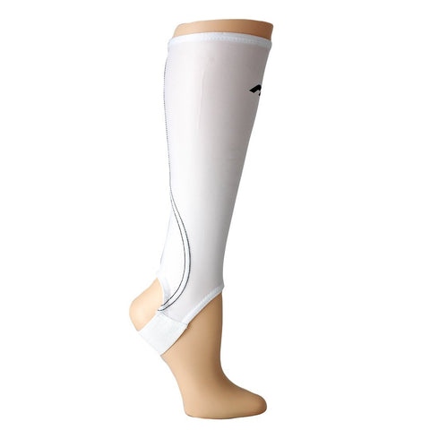 Mercian White Shin Guard Socks Side View