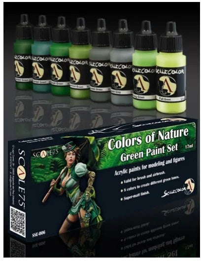 Scale75 - Colors of Nature (Green Paint Set)