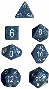 Chessex Speckled Polyhedral 7-dice Set: Sea