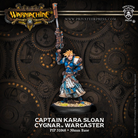 Warmachine Cygnar: Captain Kara Sloan