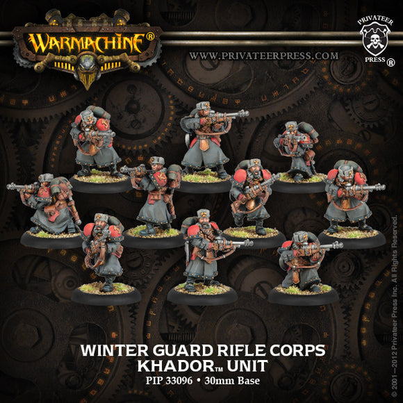 Warmachine Khador: Winter Guard Rifle Corps Unit Box (10)