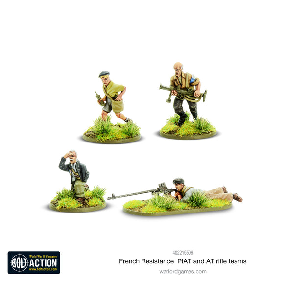 Bolt Action: French Resistance PIAT Anti-Tank Rifle Teams