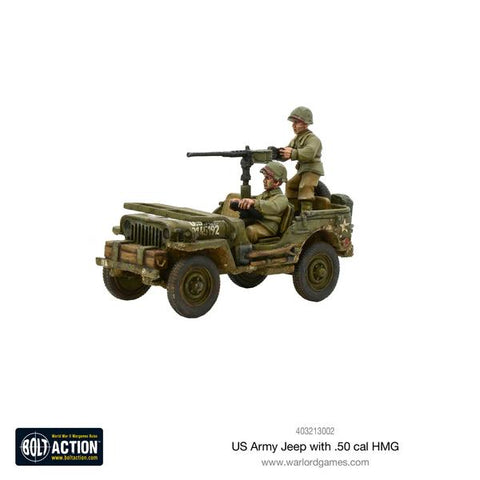 Bolt Action: US Army Jeep with 50 Cal MMG