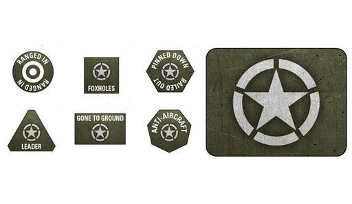 FoW: American LW Tokens (x20) & Objectives (x2)