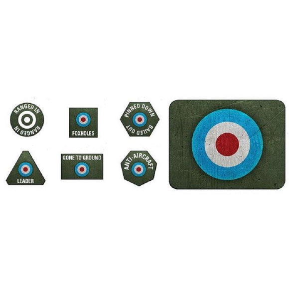 FoW: British LW Tokens (x20) & Objectives (x2)