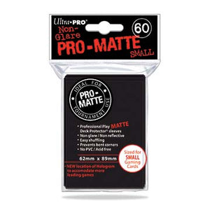 Ultra Pro Pro-Matte Black Small Deck Protectors (60)