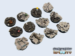 Micro Arts: Urban Fight Bases, Round 25mm (5)