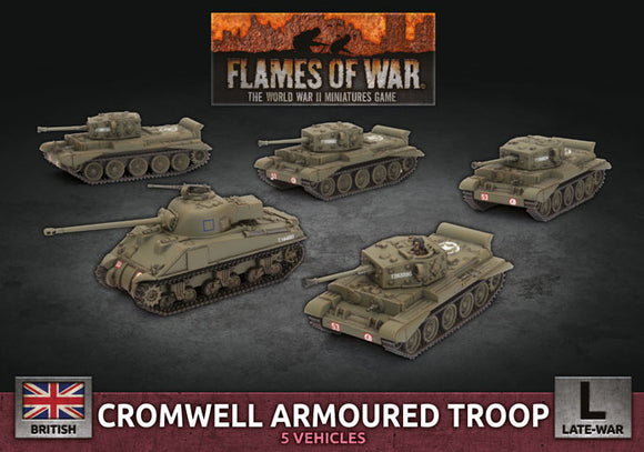 FoW:   Cromwell Armoured Troop (x5 Plastic)