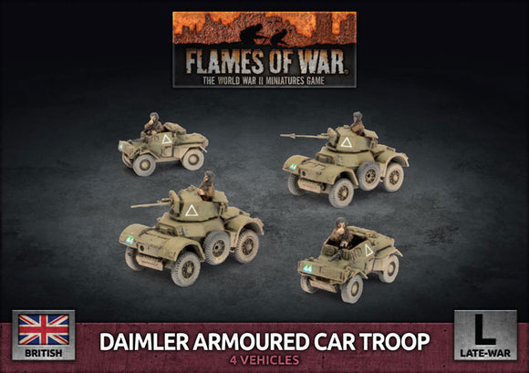 FoW:   Daimler Armoured Car Troop (Plastic)