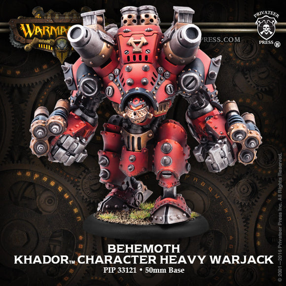 Warmachine Khador: Behemoth Character Heavy Warjack (white metal & resin) BOX