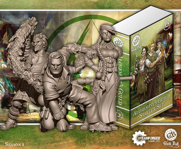 Guild Ball: Alchemist Starter Set (Midas, Calculus, Mercury)