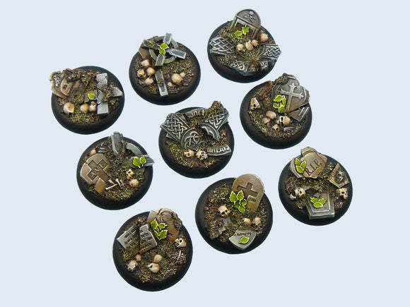 Micro Arts: Graveyard Bases, Wround 30mm (5)
