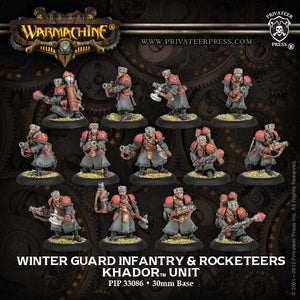 Warmachine Khador: Winter Guard Infantry PLASTIC Unit Box w/ Three Weapon Attachments (13)