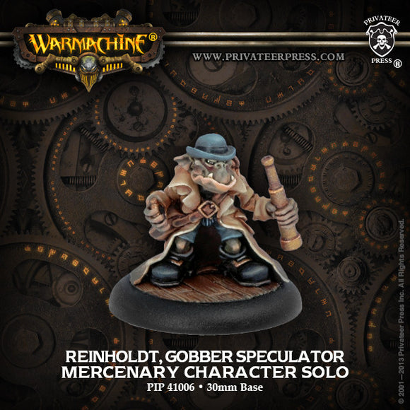 Warmachine Mercenaries: Reinholdt, Gobber Speculator