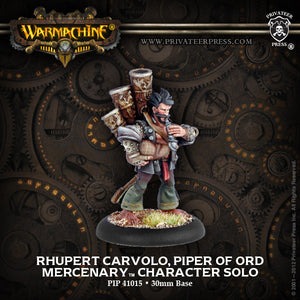 Warmachine Mercenaries: Rhupert Carvolo, Piper of Ord