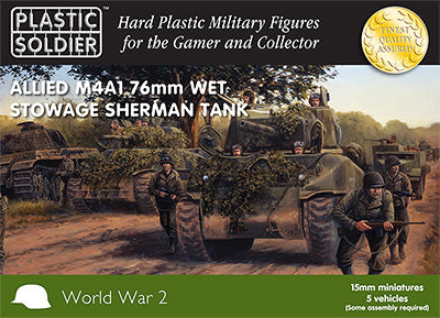 Plastic Soldier Company: 15mm WW2 Allied M4A1 76mm Wet Stowage Sherman